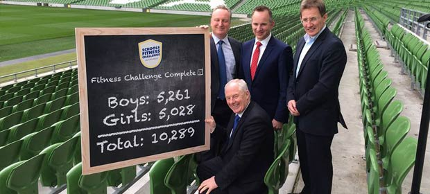 Mr. Ciaran Faughnan CEO WEllness Alliance , Mr. James Parker Aviva Health, Prof Niall Moyna and Mr. Michael Ring TD Minister of State at the Aviva in April this year.