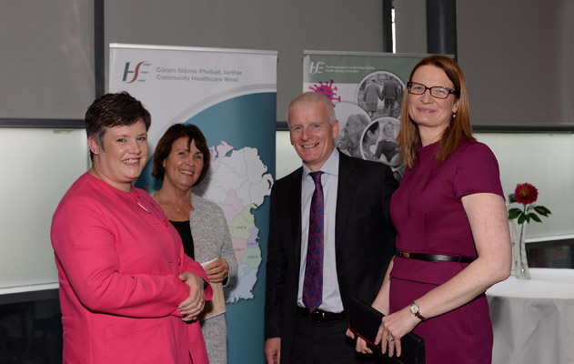 Judging Panel with Chief Officer: Grainne Colreavy, Health Business Services (HBS) Therese Cunningham, CHO1, HR Manager, Cavan Monaghan Tony Canavan, Chief Officer, Community Healthcare West and Mary Garvey, General Manager, Roscommon University Hospital.