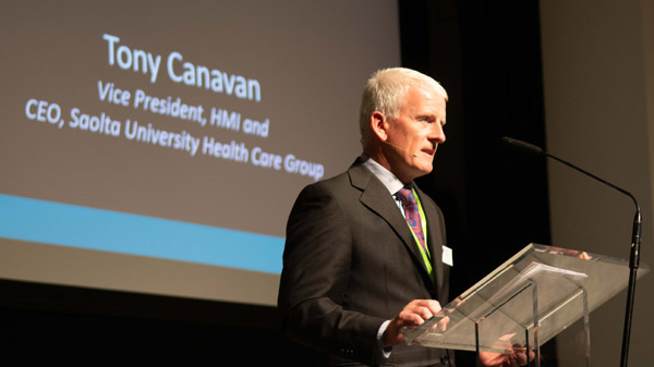 HMI Vice-President, Mr. Tony Canavan, CEO of the Saolta University Health Care Group