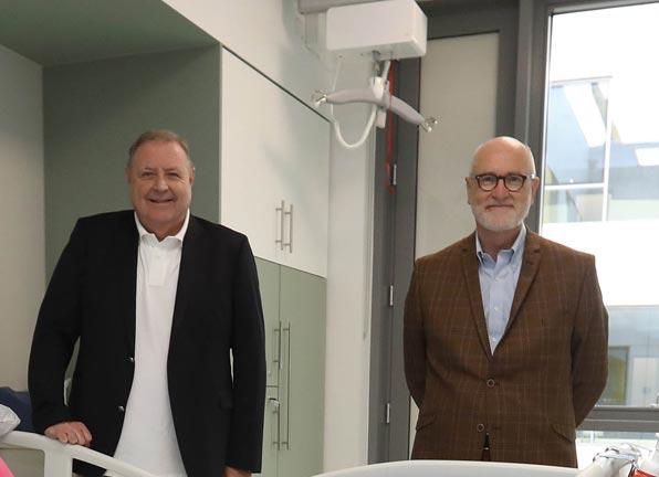 NRH CEO Derek Greene, and Clinical Director Prof Mark Delargy
