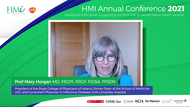 Prof. Mary Horgan, President, Royal College of Physicians of Ireland