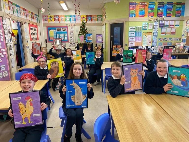 Fourth class students at Portarlington Presentation Primary School